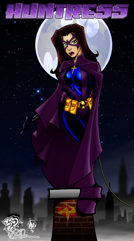 The Huntress [Original Artwork: Bill Maus] Colored
