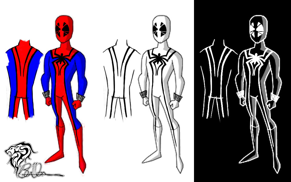 Sketch – Spiderman Costume Concepts